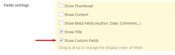 Show Custom Fields - Content Views Pro