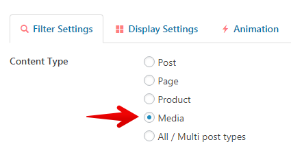 Content Views Pro - display Media file