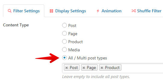 Content Views - multiple post types in a View