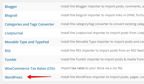 Import Select WP