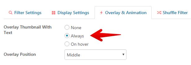Overlay setting CVP 3.9.9