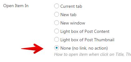 Content Views Pro - disable post links