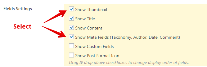 CVP - show thumbnail and meta fields for WordPress